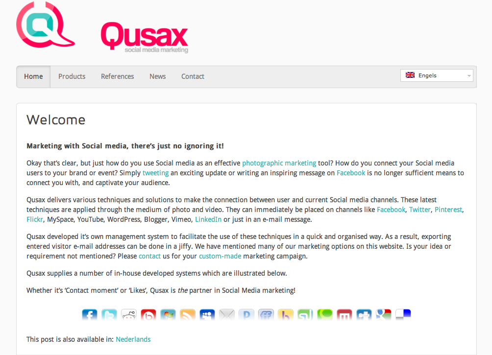 Qusax.eu homepage