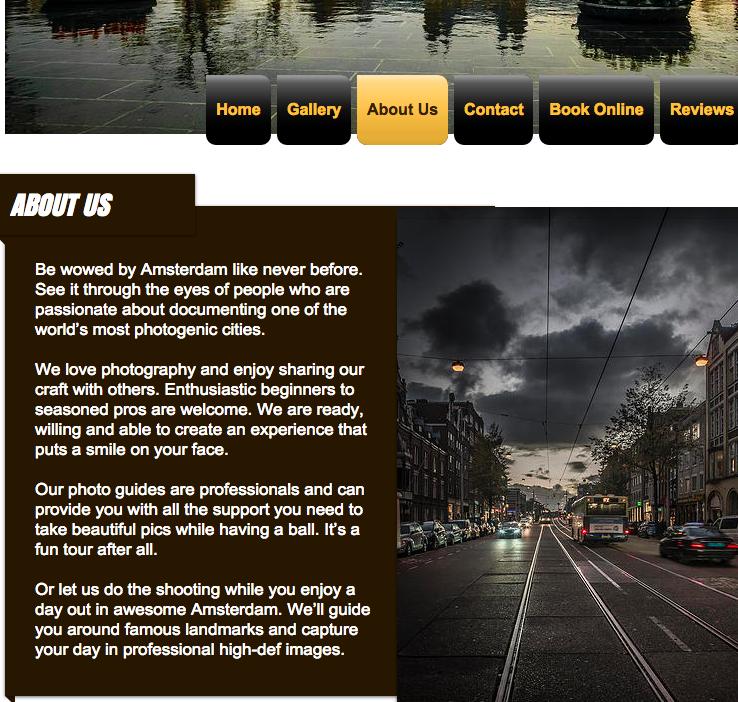 icaptureamsterdam homepage